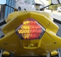 Yamaha R6 2006-2007 LED Smoked Lens Taillight with INTEGRATED Turnsignals