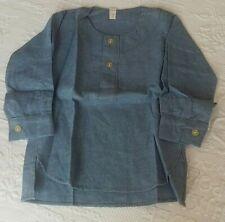 Adorable chemise d'enfant en flanelle bleue vintage taille 2 ans
