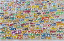 "James Rizzi ""TRAFFIC"" cars 1988 2x Hand Signed 3-D Large Serigraph Pop Art"