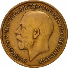 [#542892] Coin, Great Britain, George V, Penny, 1919, VF(20-25), Bronze, KM:810