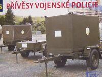 SDV Plastic Model Kit 1/87 H0 Truck 3x Military Police Trailers
