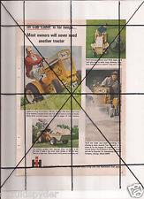 Vintage 1965 Popular Mechanics Magazine Ad A123 IH Cub Cadet 65 Ford Pickups