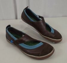Cushe Womens Sz 8 Manuka Willow Shoes Mary Janes Brown Leather Slip On Flats