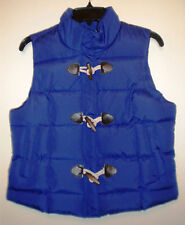 NEW Arizona Designer Girl's Teen Juniors Large Blue Sleeveless Vest Jacket