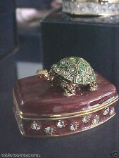 """62292 Turtle """" Toby"""" Enamel Box Perfect For Baby'S First Tooth ,Lock Of Hair"""
