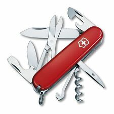 Victorinox CLIMBER RED Swiss Army Knife With Victorino Black Leather Clip Pouch