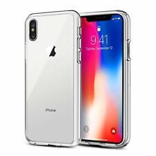 Apple iPhone Xs Max Handy Hülle Transparent Silikon Case Schutzhülle Cover klar