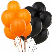15 Latex Quality Balloons Black Orange Birthday Halloween Party Decorations
