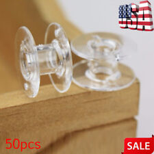 50 Pcs/Set Clear Bobbin Sewing Machine Plastic Spools For Thread Brother Singer
