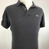 LACOSTE SHORT SLEEVE CHARCOAL GRAY COTTON POLO SHIRT MENS SIZE 5 - ALLIGATOR