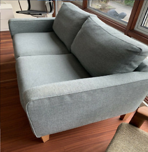 John Lewis Two Seater Sofa Green Seagrass