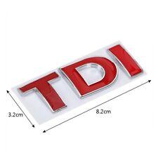 Logo stickers voiture car TDI emblème insigne autocollant VW rouge