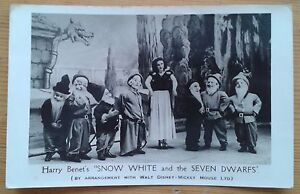 Harry Benet's Snow White and the Seven Dwarfs theatre postcard 1948