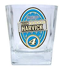 NASCAR #4 KEVIN HARVICK 12oz GLASS TUMBLER SET-NASCAR GLASSES-2 PACK