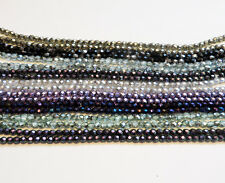 Czech fire-polished glass  beads : 9 colors ,crystal , 4mm