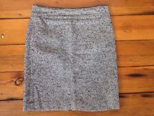 "Banana Republic Wool Blend Black White Gray Tweed Lined Pencil Skirt 6 32"" Waist"