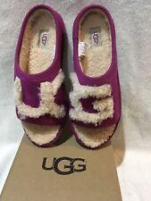 ugg genuine shearling lined slide kids Sz 5=Womens 6 or 7 NIB