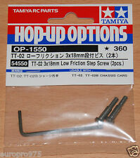 Tamiya 54550 TT-02 3x18mm Low Friction Step Screw (2 Pcs.) (TT02/TT02D/TT02T)