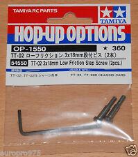 Tamiya 54550 TT-02 3x18mm Low Friction Step Screw (2 Pcs.) (TT02/TT02D/TT02T)
