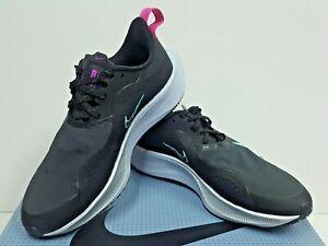 NIKE AIR ZOOM PEGASUS 37 SHIELD (CQ8639 003) Women's Running Shoes Size 7 USED