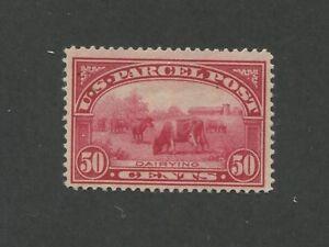 1913 United States Parcel Post Stamp #Q10 Mint Lightly Hinged F/VF Original Gum