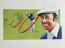 1982 Anthony Ravielli Golf Illustration ORIGINAL Artwork Used 10/82 Golf Digest