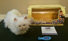 FurReal Friends Cat White Persian Blue Eyes Tiger 2002 Brush Certificate 66492