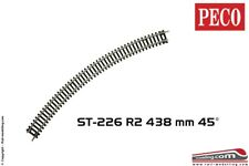 PECO ST-226 - H0 1:87 - Track curved R2 438 mm 45° cod. 100
