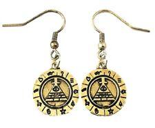 Metal Enamel French Wire Earrings Gravity Falls Bill Cipher Boss