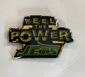 New York Jets Feel The Power Old Logo Pin