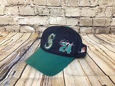 Vintage Ken Griffey Jr 24 Seattle Mariners Snapback Hat Cap Used Condition