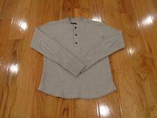 Wings + Horns Mens Medium (M) Long Sleeved Henley Shirt - Waffle Knit - Plus