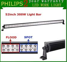 52inch 300W Philips Led Work Light Bar Spot Flood Offroad 4X4 Car Boat Lamp 240W