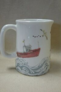 Julia Davey Somerset Ceramic Hand Decorated Milk Jug Sea Lighthouse 7.5cm D11