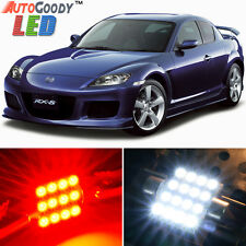 12 x Premium Red LED Lights Interior Package Kit for 2004-2012 Mazda RX-8