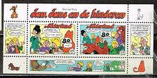 Netherlands Cartoons Comics set in block 1980 MNG