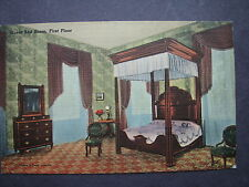Old Postcard of Guest Bed Room on First Floor of My Old Kentucky Home