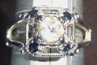 Vintage Esposito Sterling Silver Art Deco Ring
