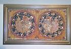 Vintage Burmese KALAGA Tapestry Birds Phoenix Wedding Embroidery Sequins Framed