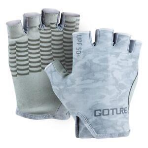 Goture Fishing Gloves Non-Slip Sun Protection Half Finger Gloves Outdoor Sports
