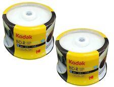 100 Genuine KODAK Blank Printable Bluray BD-R Layer 25GB Blu-ray Disc 6x Spindle
