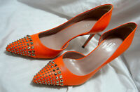 Gucci Orange Studed Stiletto Pumps/Shoes Size 39.5/9 New in Box Stunning