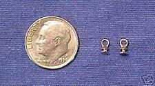 SULSER SADDLERY 1:24 Little Bit Model Horse Scale HARNESS TERRETS - White Bronze
