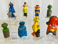 Vintage 1970's Original GORHAM SESAME STREET HANGING Christmas ORNAMENTS Lot