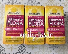 Renew Life Ultimate Flora 50 billion Vaginal Support Probiotic 3 X 30 Caps APR19