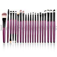 20pcs Pro Makeup Brushes Set Face Eye Shadow Lip Cosmetics Blending Brush Tool