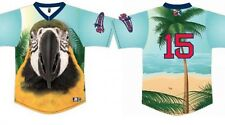 "Lowell Spinners SGA Jimmy Buffet Day ""PARROT HEAD"" Jersey, 8/6/15, New XXL"