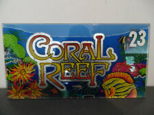 """Vintage Plaque Verre Machine à sous Casino """"Coral Reef"""" IGT"""