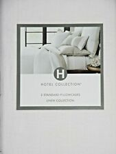 NIP HOTEL COLLECTION LINEN COLLECTION STANDARD SIZE PILLOWCASES IN WHITE