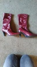 used franko sarto red womens boots size 8